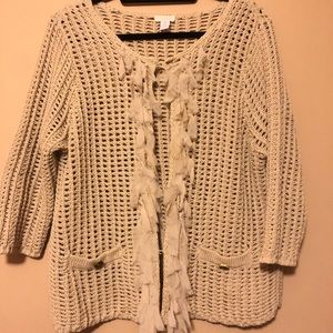 Chico's open weave sweater.